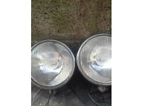OLD SKOOL SPOT LAMPS. NEED A LIL TLC HENCE PRICE
