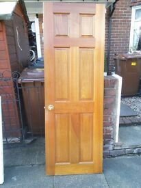 6 Solid Teak doors used but in good condition