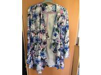 Beautiful floral size 14 blazer/cardigan