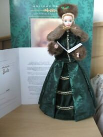 Barbie Porcelain Holiday Caroler