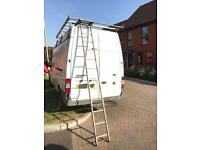 Ford Transit Roof Rack with in built ladder and roller