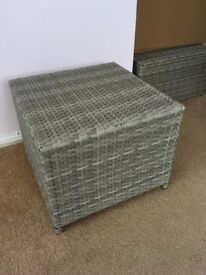 Brand new grey rattan garden / conservatory footstool.