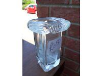 Glass Vase - unusual swirly top