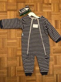 JoJo Maman Bebe Sleep Suit with bootes (2-3yrs)
