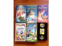 Disney VHS Tapes x6 All original