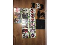 Xbox 360s with 15 games and 3 controllers