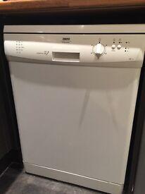 Zanussi white dishwasher