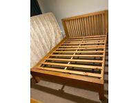 Oak king-size bed