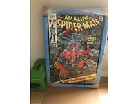 Amazing Spiderman #100 Framed Boxed Canvas Signed by Stan Lee
