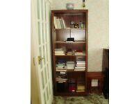 Dark Oak Effect Bookcase with Adjustable Shelves