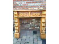 Solid metal inset fireplace