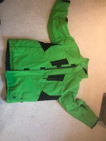 Men Green Ski Jacket (Large)