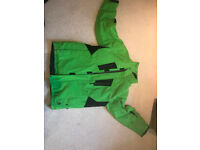 Men Green Ski Jacket (Large)