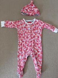 Joules sleepsuit and matching hat