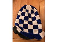 Football hat blue and white