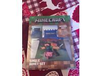 Minecraft single bedding