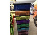 8 drawer plastic storage unit