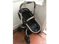 All-terrain Mothercare Orb Pram and Pushchair System