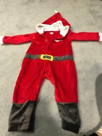 Christmas outfit, toddler Santa suit 12 - 18 months from John Lewis