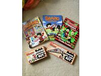 Dennis the Menace Beano Gnasher Books, planes, badges