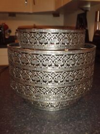 Beautiful Moroccan style metal patterned light shade