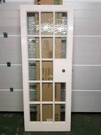 3x Glass Panelled Internal Doors