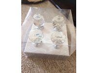 4 crystal draw knobs