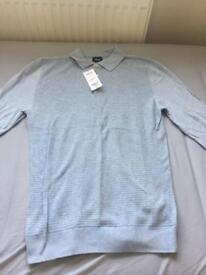 Men's burtons knitted polo