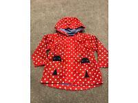 Baby Girls Red Polkadot Ladybird Coat 9-12 months