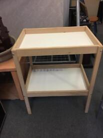 White & Pine Changing Table