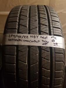 275/40/22 4 pneus été  continental neuf