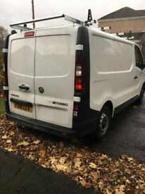 Vauxhall Vivaro 2700BT CDTI SS 1.6. First registered Aug 16. Plylined with Rhino roof rack inc.