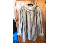 XL faux fur coat