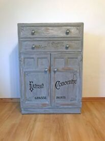 Grey Shabby Chic Wood Cabinet
