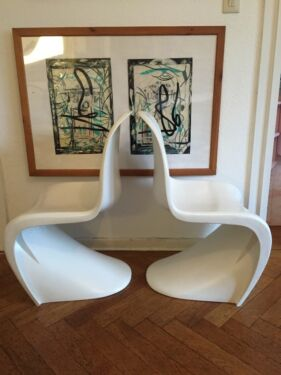 2 x panton chair stuhl wei in essen r ttenscheid ebay kleinanzeigen. Black Bedroom Furniture Sets. Home Design Ideas