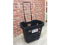 5 x Shopping Basket, black plastic