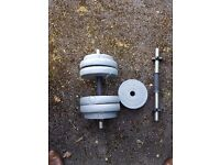 Dumbell weight training set