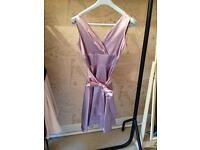 Lilac silk dress size 10
