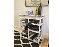 Kitchen cart or storage shelves