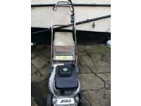 "Kaaz 19"" self propelled petrol lawnmower with rear roller"