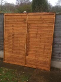 6ft x 6ft garden fence panel new