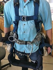 DBI SALA ExoFit 1108657 Climbing Harness i-Safe Intelligent Safety System  Sz XL