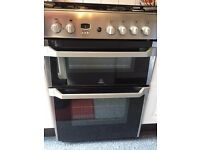 Stainless Steel Gas Cooker Free Standing with Fold Down Glass Lid - 10 months old