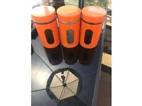 Brabantia orange canisters for sale