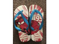 """Only 1 Havaianas brand new """"Cars"""" kids boys size uk 2 euro 31-32 flip flop great for summer"""