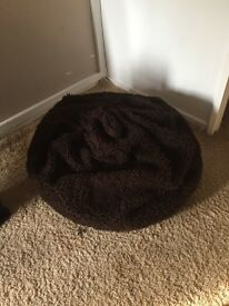 Faux Fur Brown Bean Bag