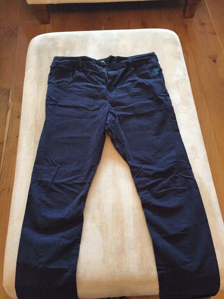 Next trousers navy blue age 13 excellent condition