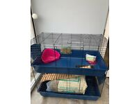 Guinea/rabbit indoor double hutch