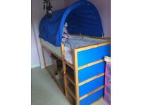 IKEA cabin mid sleeper with over bed tent