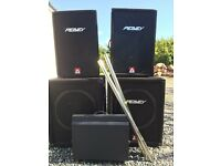 Peavey XR800F PA plus speakers and wedge monitor